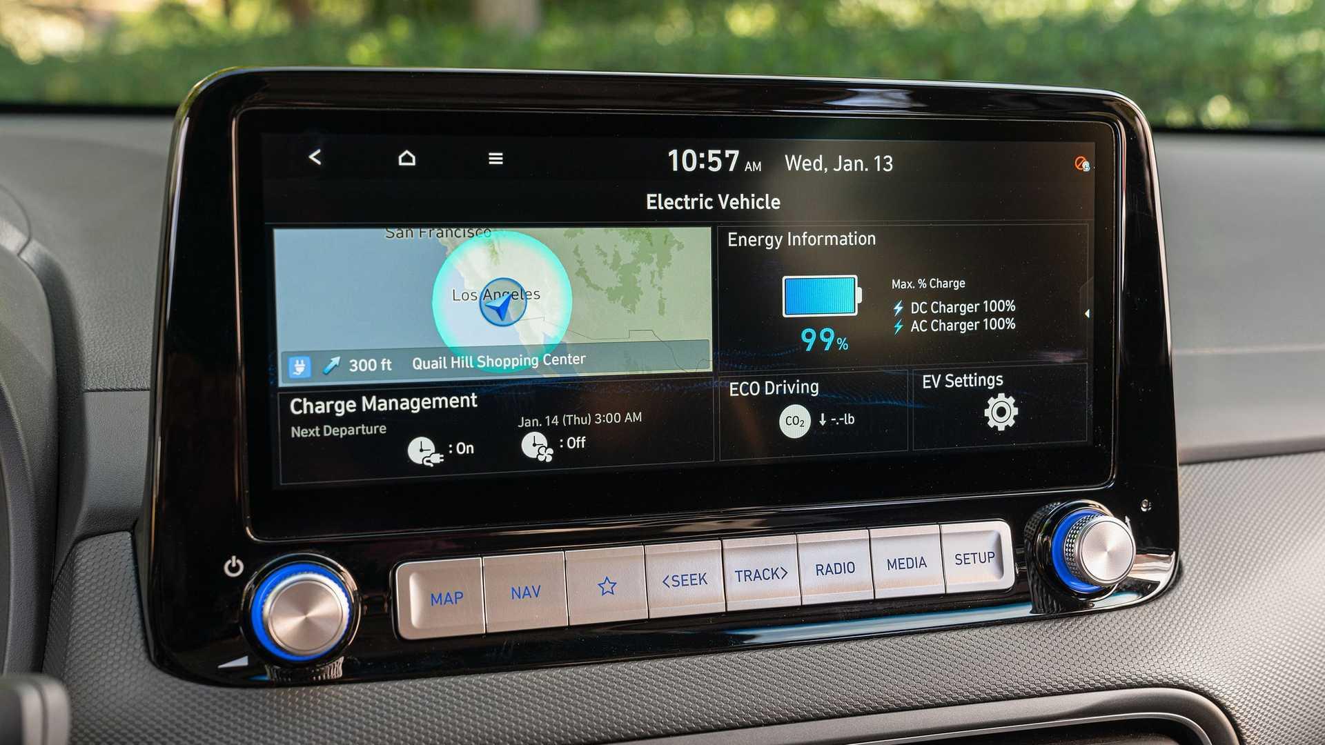 电池容量64kWh 新款现代KONA EV将春季上市